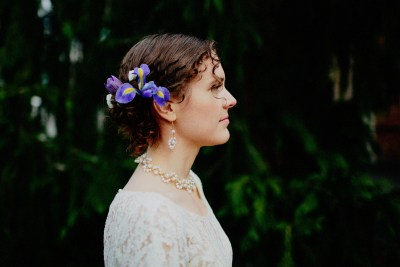 Bride with and Orchid in her hair