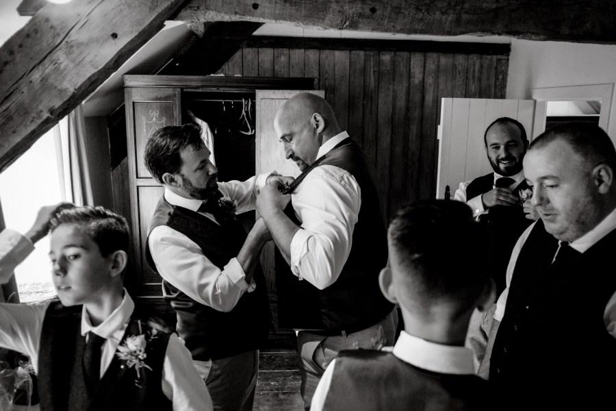 Hafod Farm Wedding - Groom and Groomsmen