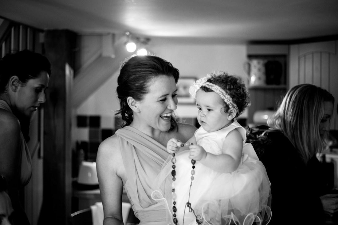Hafod Farm Wedding - Bridesmaid and niece