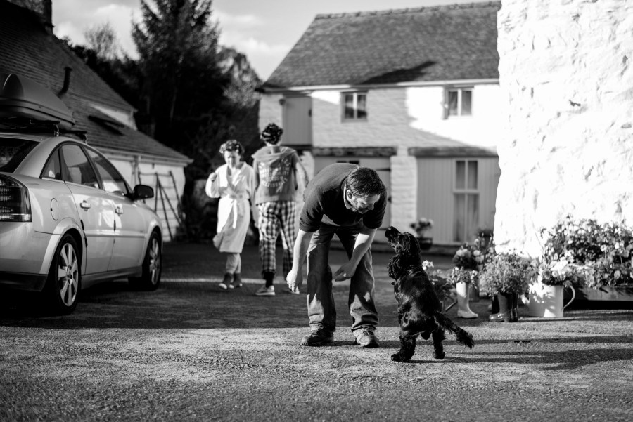 Hafod Farm Wedding - early morning fun