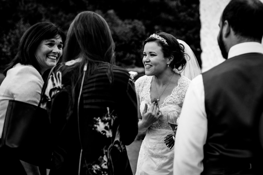 Hafod Farm Wedding - A happy moment.