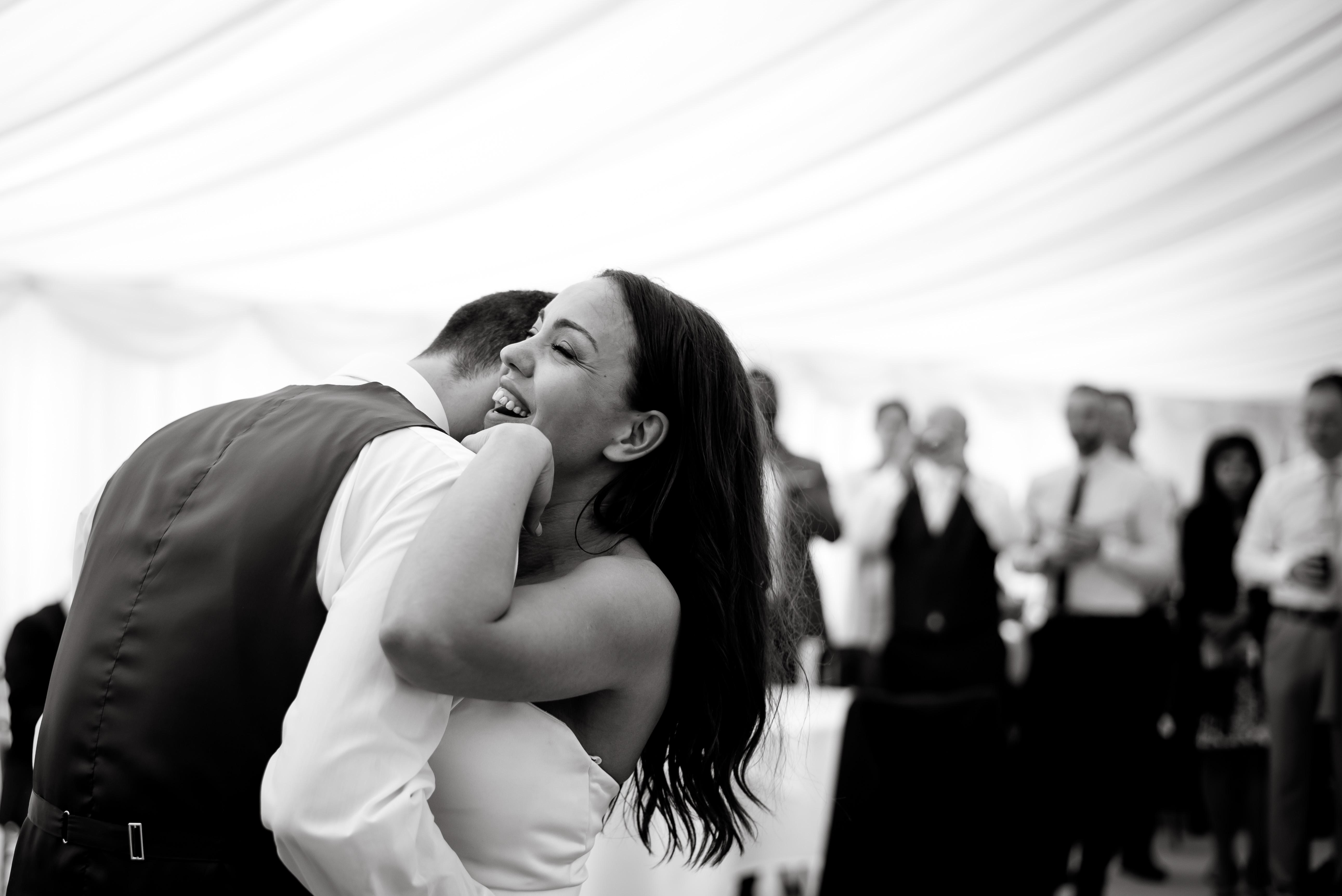 Wedding Photographer Denbighshire. First dance at Bodelwyddan castle wedding