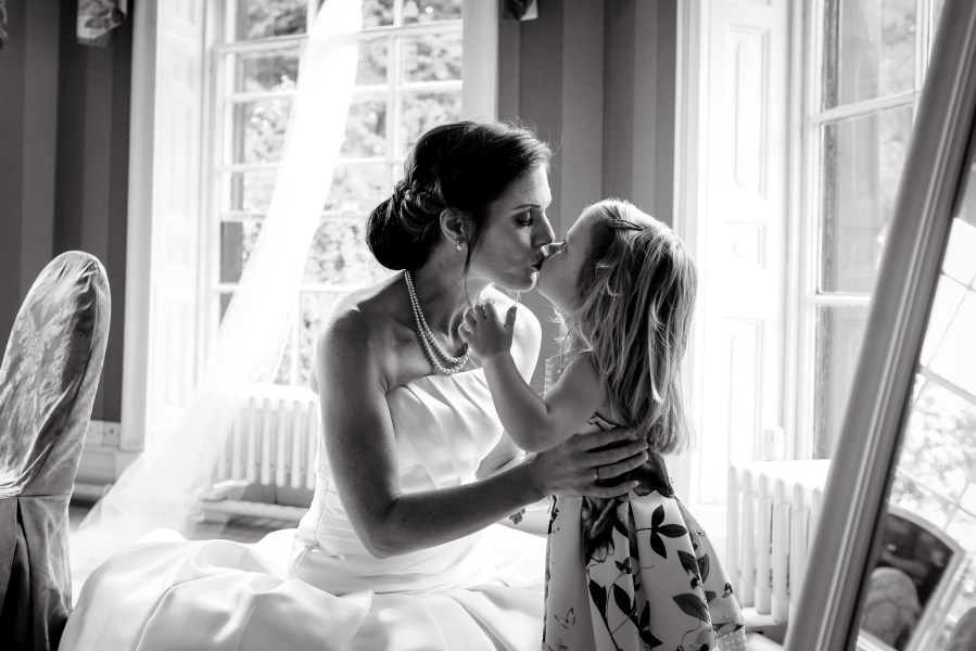 Statham Lodge Wedding - Bride and daughter moment