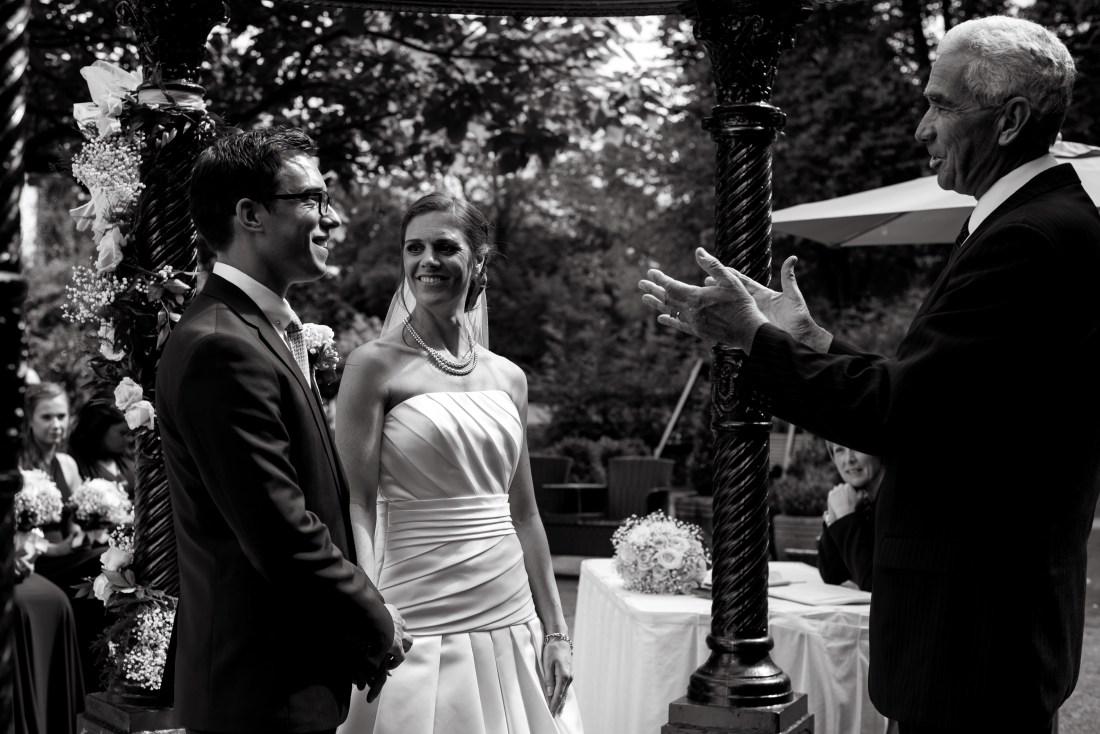 Statham Lodge Wedding - Ceremony in the sunshine