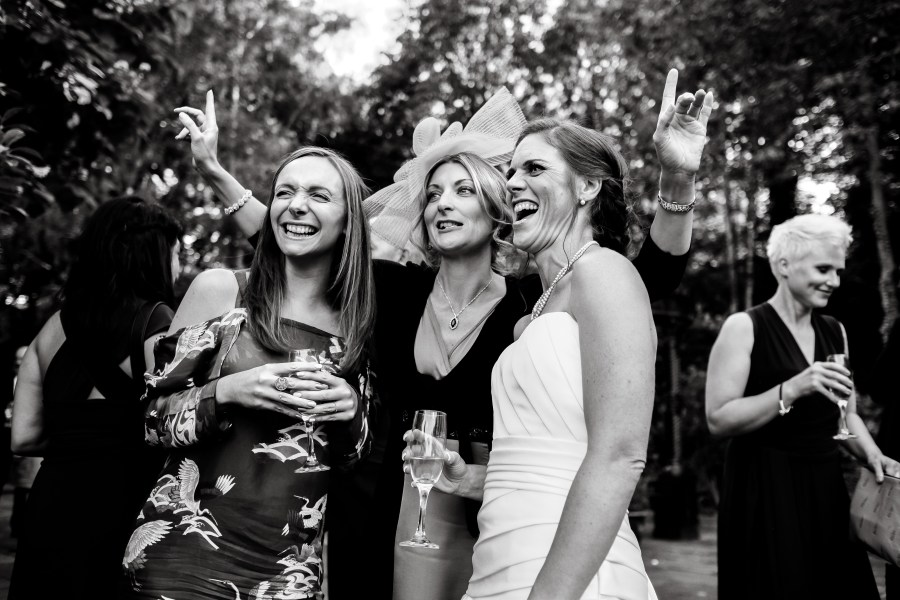 Statham Lodge Wedding - Bride and her friends selfie