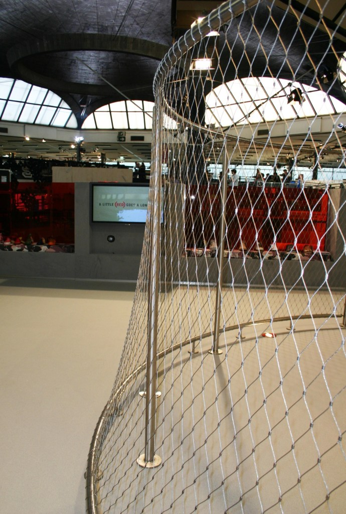 detail of steel fence of stand design
