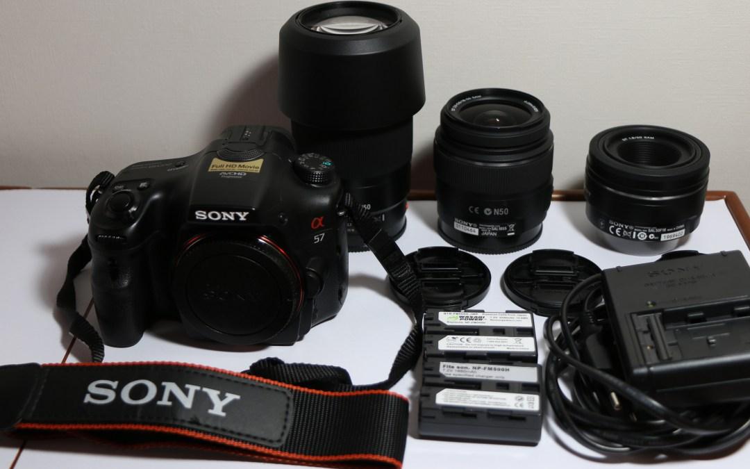 VENDIDA – mi Cámara Sony A57 como nueva, con accesorios y 2 lentes
