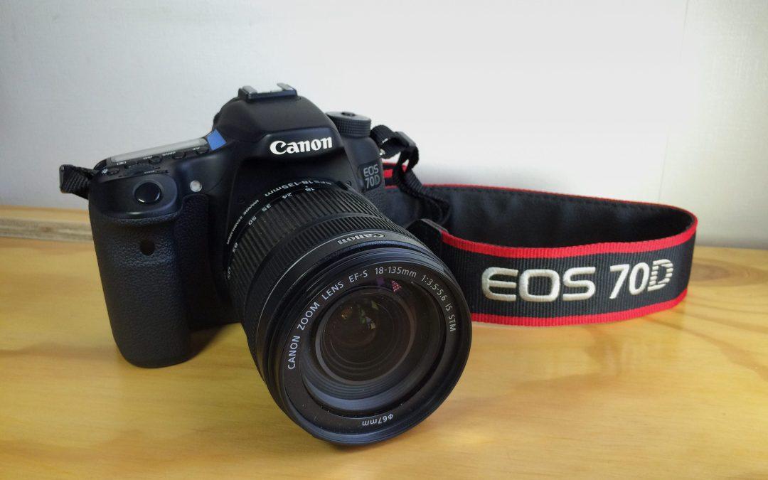 VENDIDA — mi Canon 70D + lente + accesorios. CL$799.000. Como nueva!