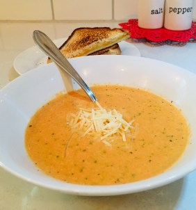Tomato Basil Soup from scratch