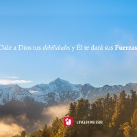 Dale a Dios tus debilidades (Wallpaper)