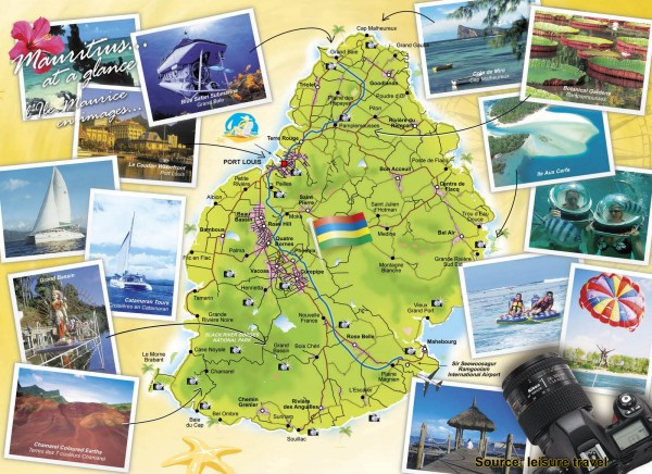 Map of Mauritius Holiday Attractions Mauritius Attractions