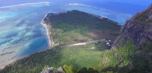View of the Magnificient Sea Floor From Le Morne Brabant Mountain