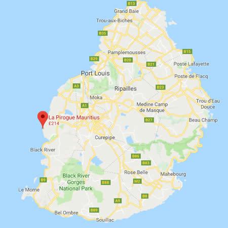 La Pirogue location map