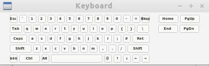 tastiera virtuale compatta matchbox-keyboard