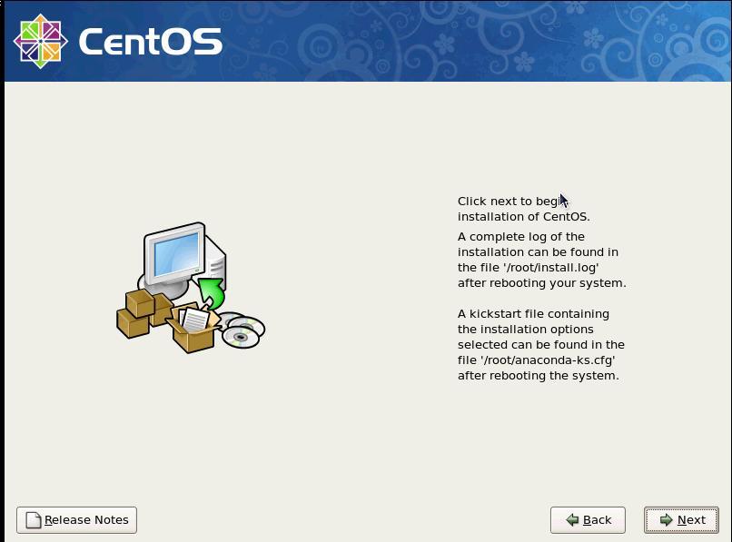 CentOS start installation