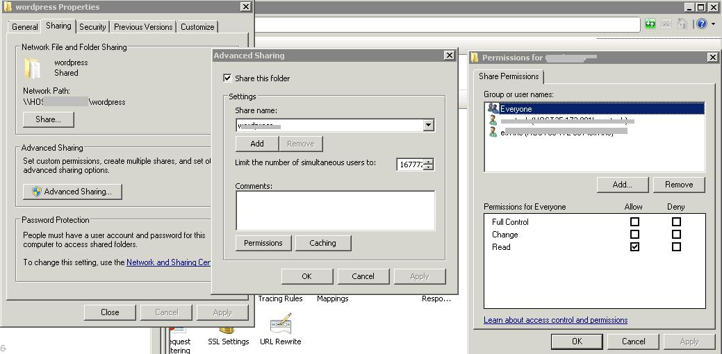 Windows 2008 condivisione cartella