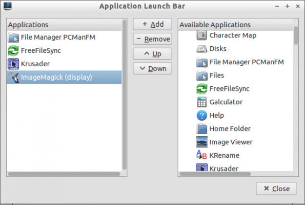 Application Launch Bar LXPanel