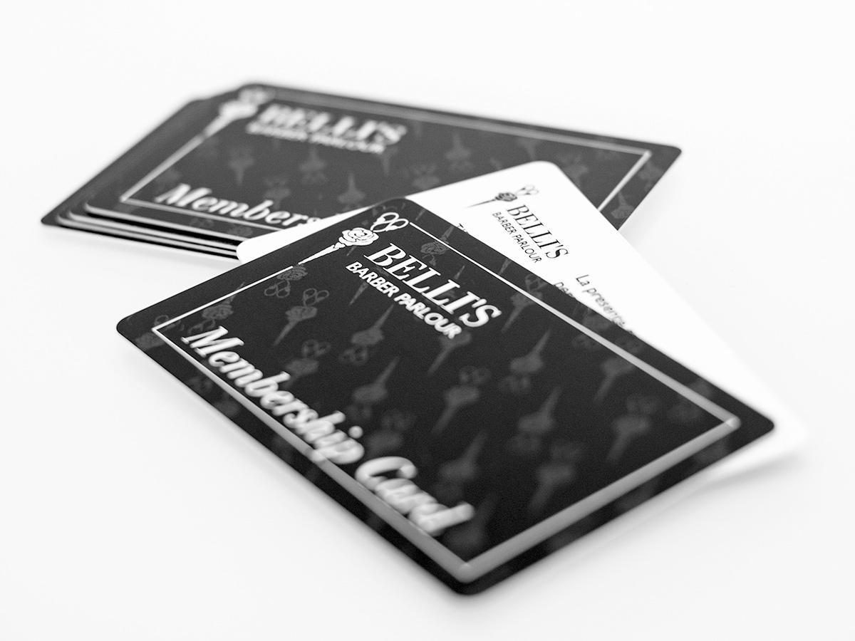 Belli's Barber - Membership card