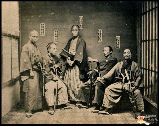 vecchia foto di samurai
