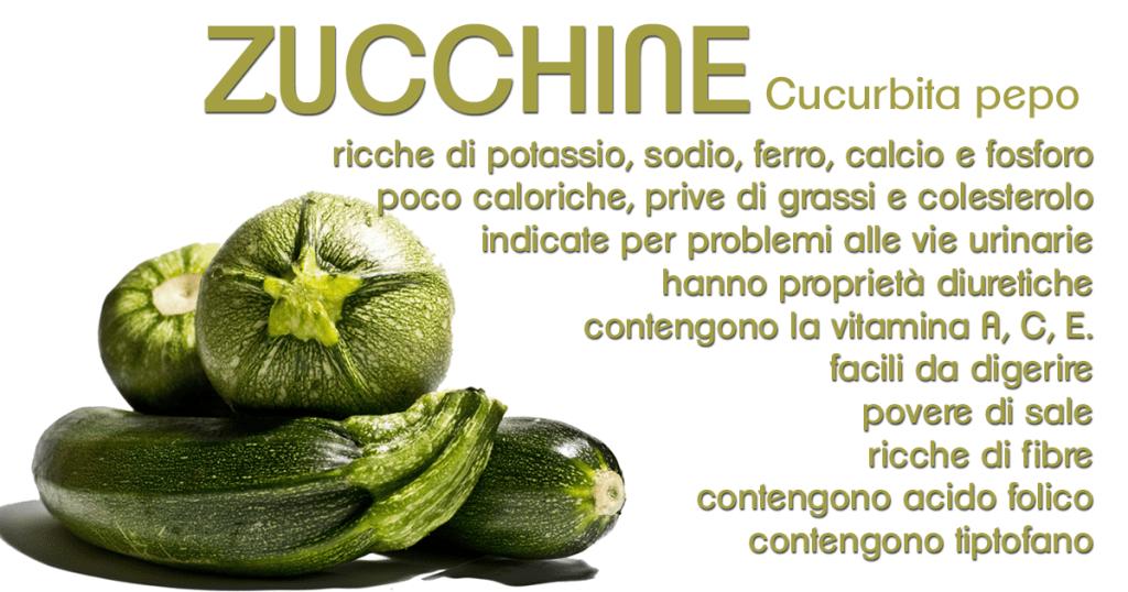 proprietà delle zucchine