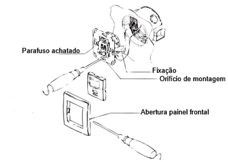 Sensor de movimento 160° para embutir 79x79mm branco