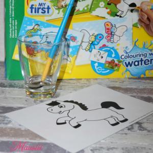 Wasser Pinsel und Bild