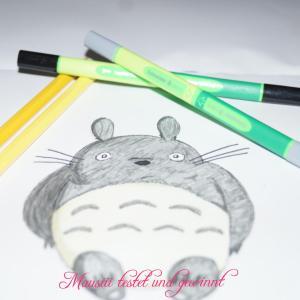 Totoro gemalt mit Link-It