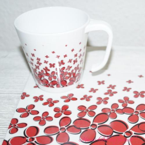 Heartbeat Love Flowers Tasse
