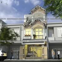 Mẫu thiết kế nhà biệt thự 3 tầng bán cổ điển đẹp