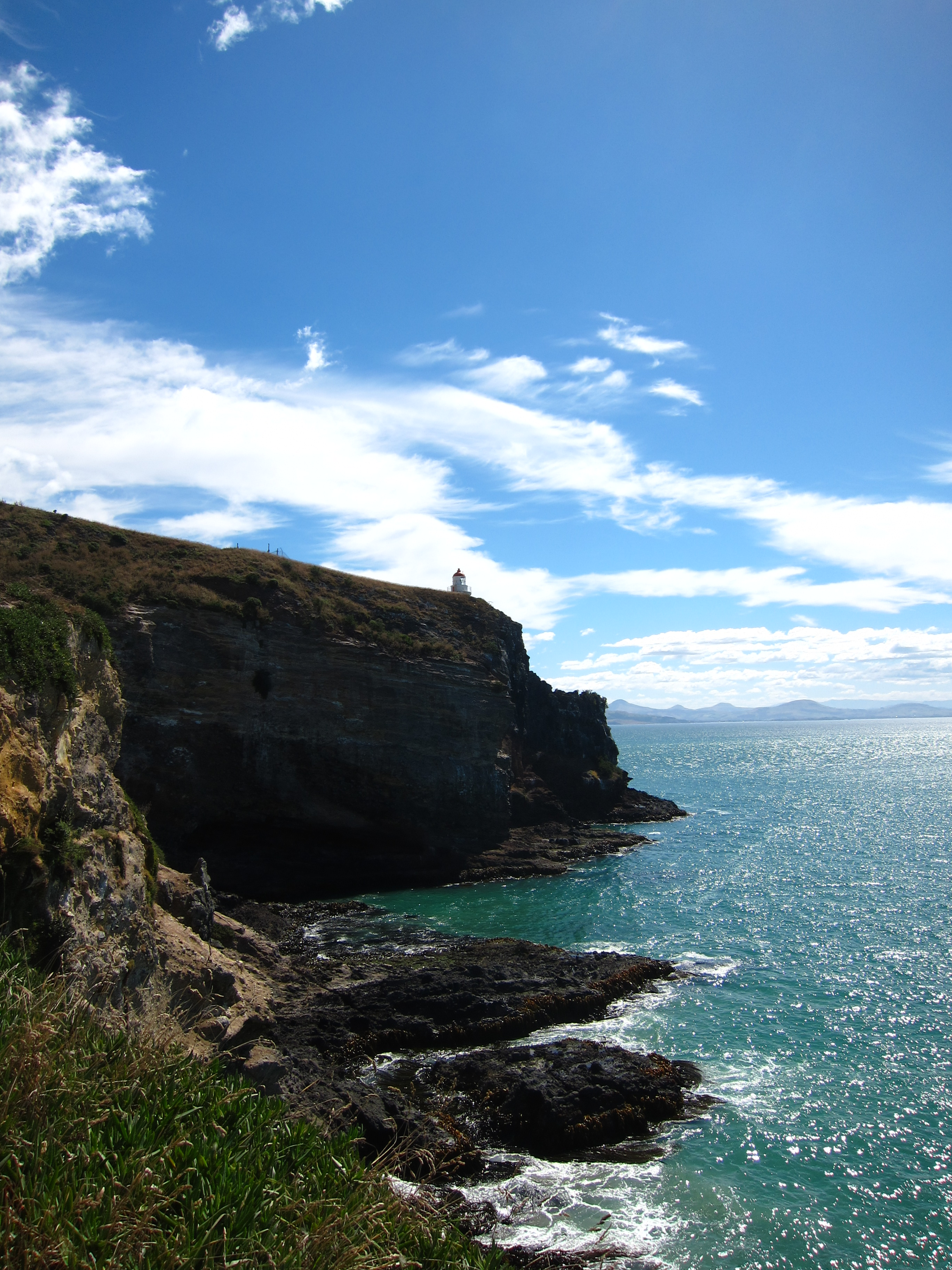 here is where we enjoyed the view of watching an albatross fly around with commode blanc laqu