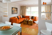 Living room - orange detail