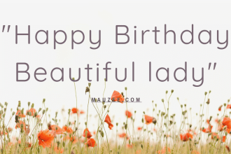 Happy Birthday Beautiful lady Quote