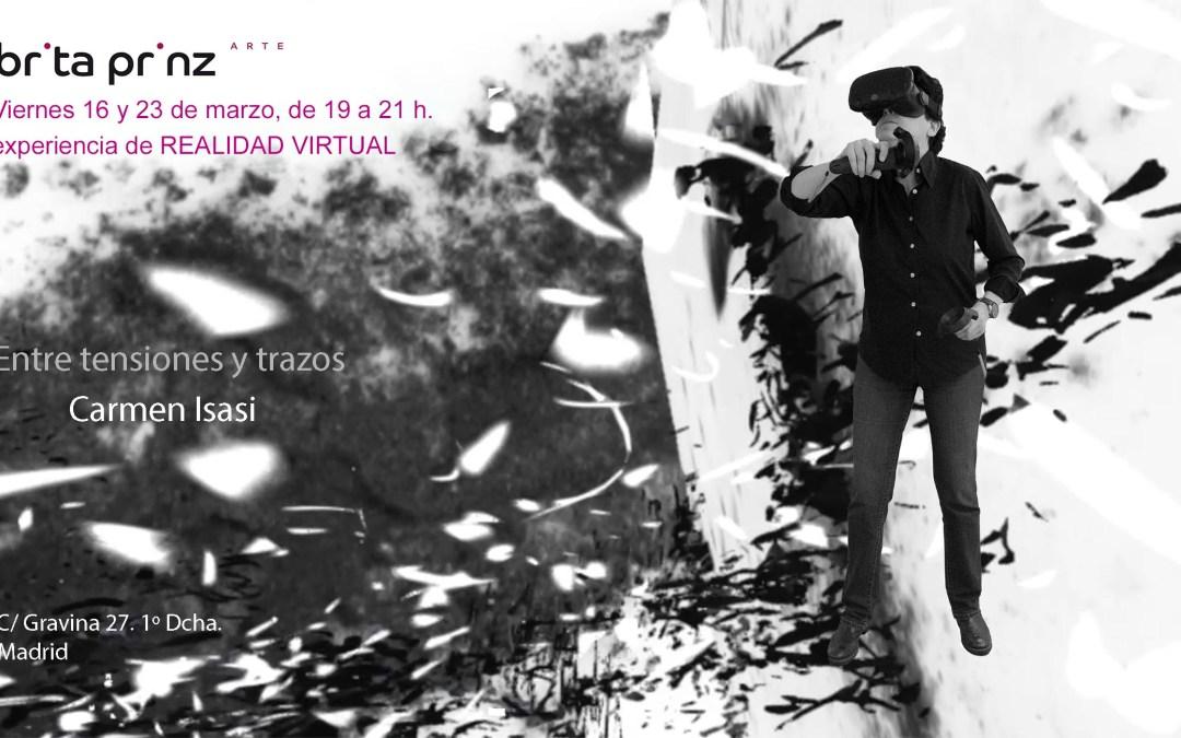 """Realidad Virtual en la exposición """"Entre tensiones y trazos"""", de Carmen Isasi"""