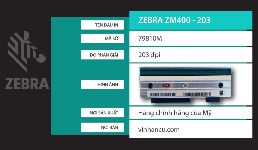Zebra ZM400203 DPI giá rẻ