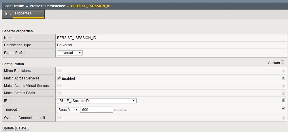 F5 iRule - JSession ID - noisy network