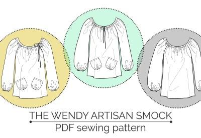 The Wendy Artisan Smock by Maven Patterns