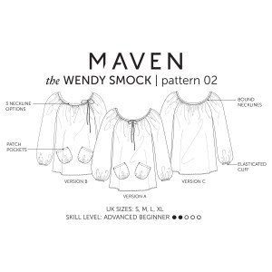 THE WENDY SMOCK PRINTE PATTERN
