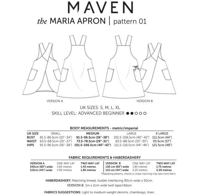 THE MARIA APRON_MAVEN PATTERNS