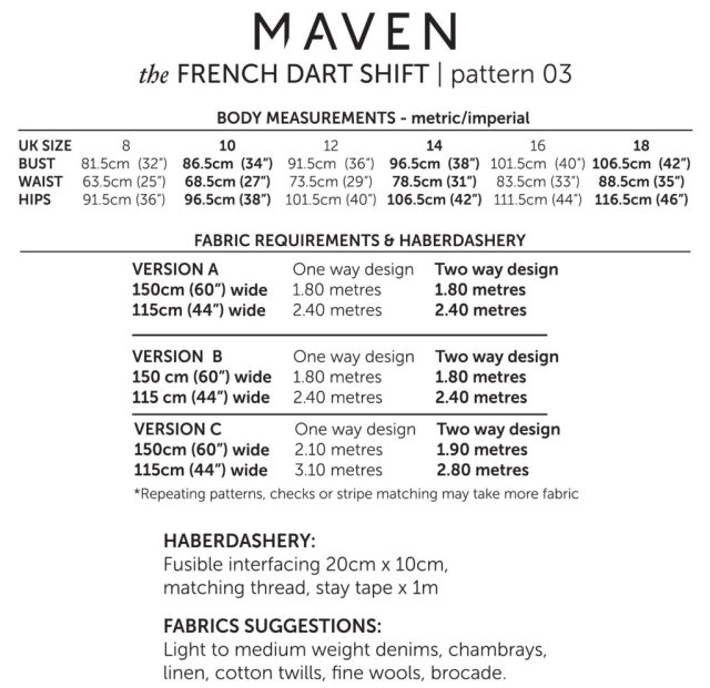 MAVEN PATTERNS_THE FRENCH DART 5
