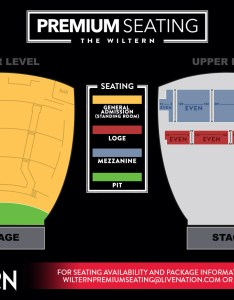What is premium seating also rh wiltern