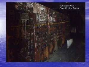 Control room damage