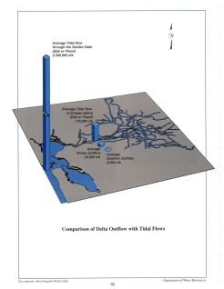 Comparison of Delta Outflows with Tidal Flows, from the Delta Atlas, 1995