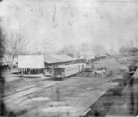 Sacramento Railroad Depot 1866, from the National Archives