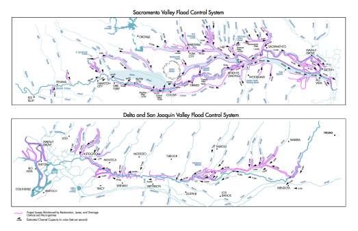 Sacramento Valley, Delta, and San Joaquin River Flood Control System Design Flows Undated