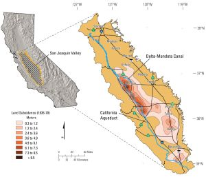 Land subsidence in the San Joaquin Valley, California, 1926–70