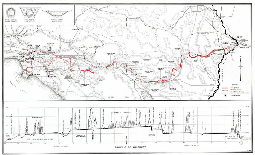Colorado River Aqueduct Map and graphic ~ MAVEN'S NOTEBOOK