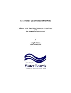 Local Water Governance Report
