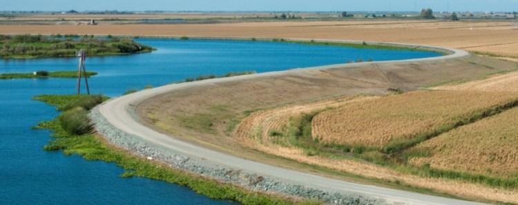 The San Joaquin - Sacramento delta, as seen from a ship traveling through the Stockton Ship Channel on September 24, 2013.