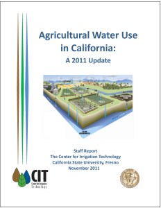 Ag Water Use Report Cover