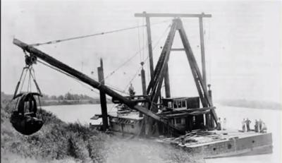 10 Clamshell dredge